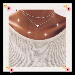 Jewelry - Gorgeous silver tone heart necklace